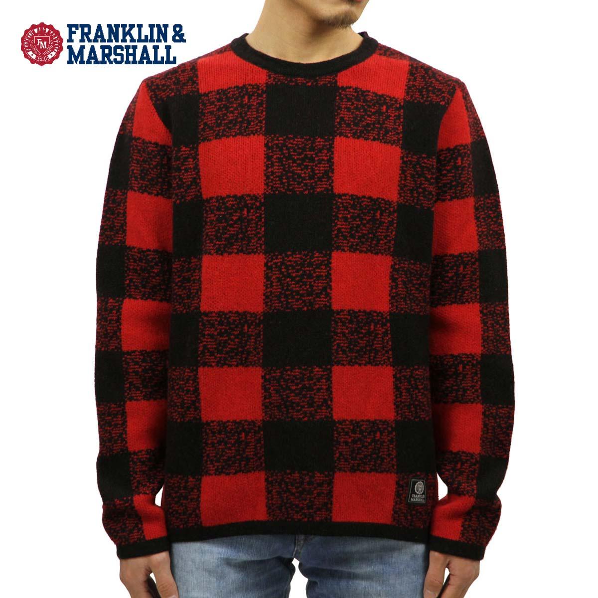 フランクリン マーシャル FRANKLIN&MARSHALL 正規販売店 メンズ セーター BUFFALO CHECK SWEATER CARDINAL MOUNTAIN KNMAL049AN 6025 D00S20