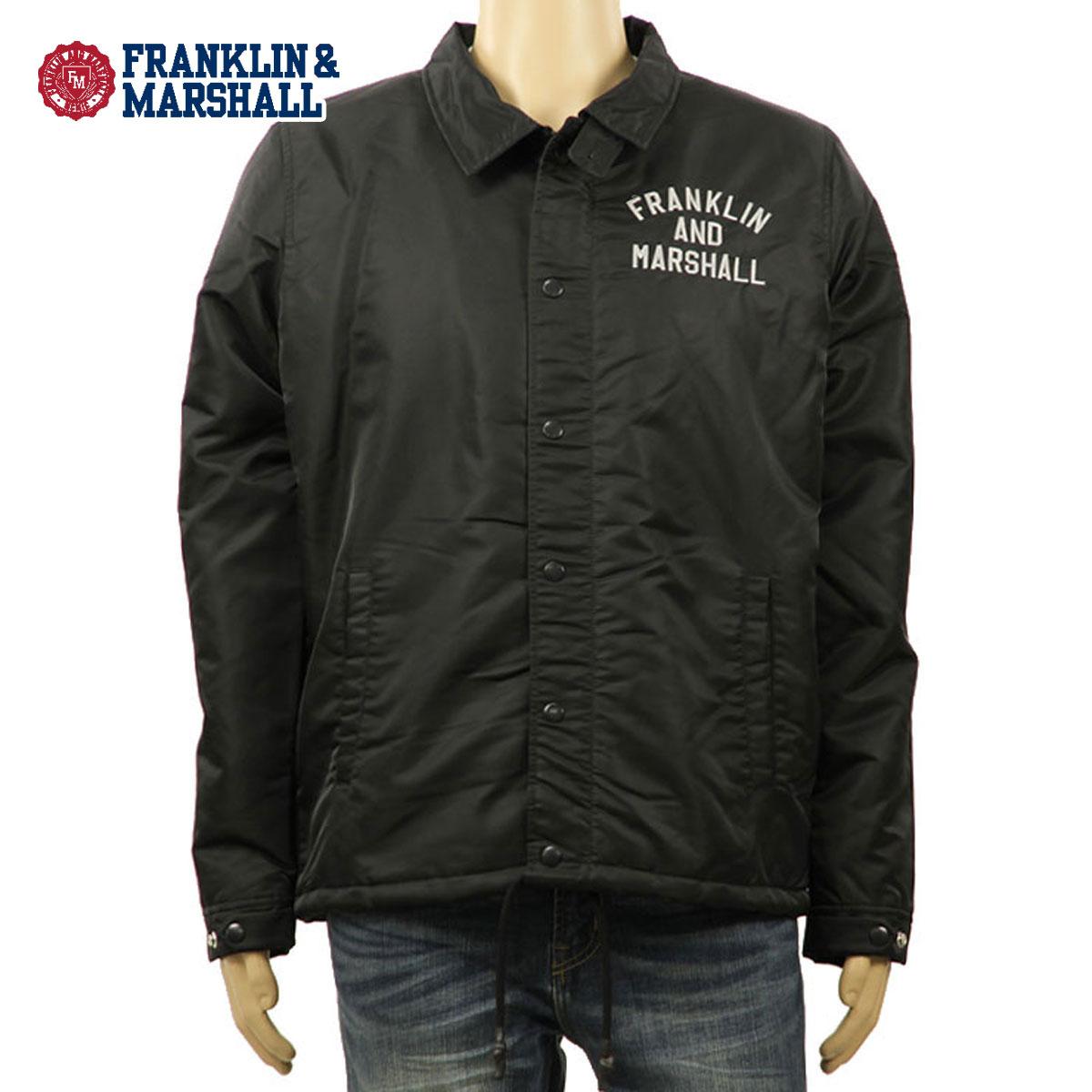 フランクリン マーシャル FRANKLIN&MARSHALL 正規販売店 メンズ ジャケット COACH JACKET BLACK JKMVA007AN 5009 D00S20