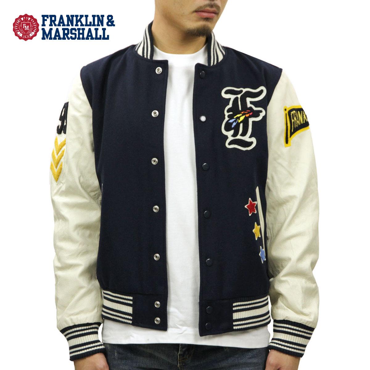 フランクリン マーシャル FRANKLIN&MARSHALL 正規販売店 メンズ ジャケット APPLIQUE STADIUM JACKET NAVY JKMVA027AN 5016 D00S20