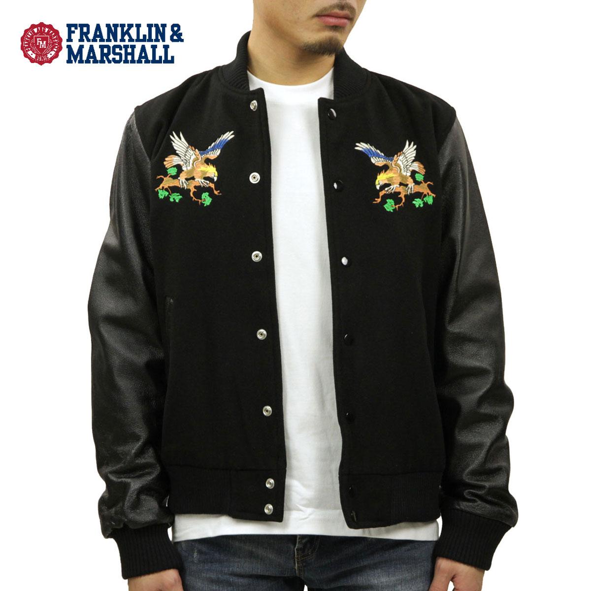 フランクリン マーシャル FRANKLIN&MARSHALL 正規販売店 メンズ ジャケット EMBROIDERY STADIUM JACKET BLACK JKMAL008AN 5027 D00S20