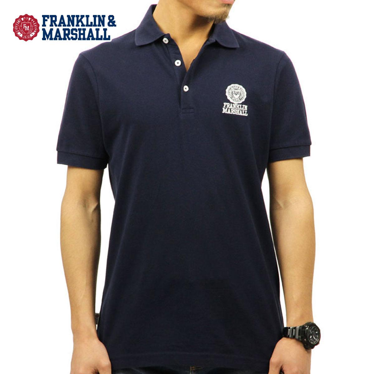 フランクリン マーシャル FRANKLIN&MARSHALL 正規販売店 メンズ 半袖ポロシャツ POLO SHIRT NAVY POMF130AN 4061 0167