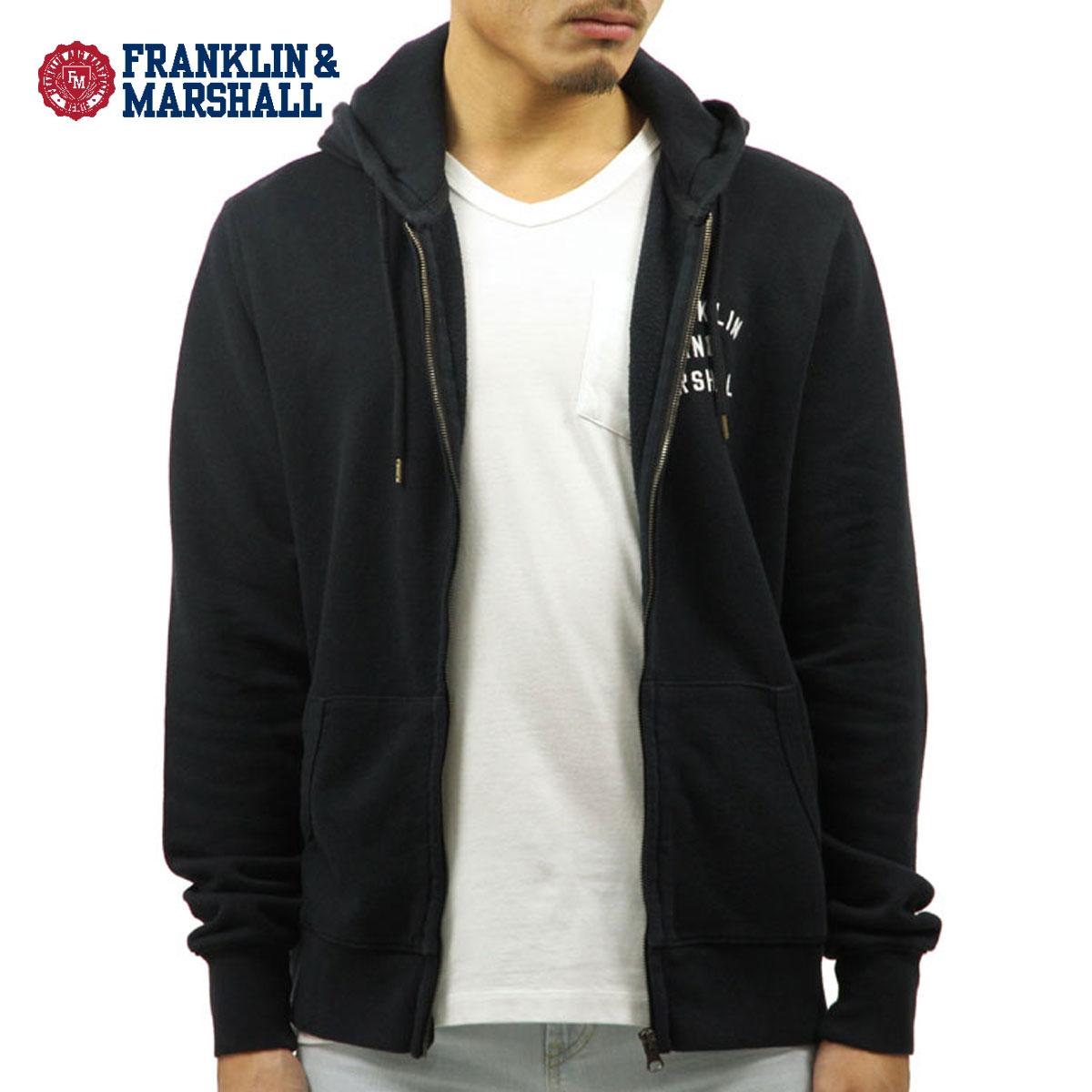 フランクリン マーシャル FRANKLIN&MARSHALL 正規販売店 メンズ ジップアップパーカー ZIP HOODIE BLACK FLMF070AN 4088 0021 D00S15