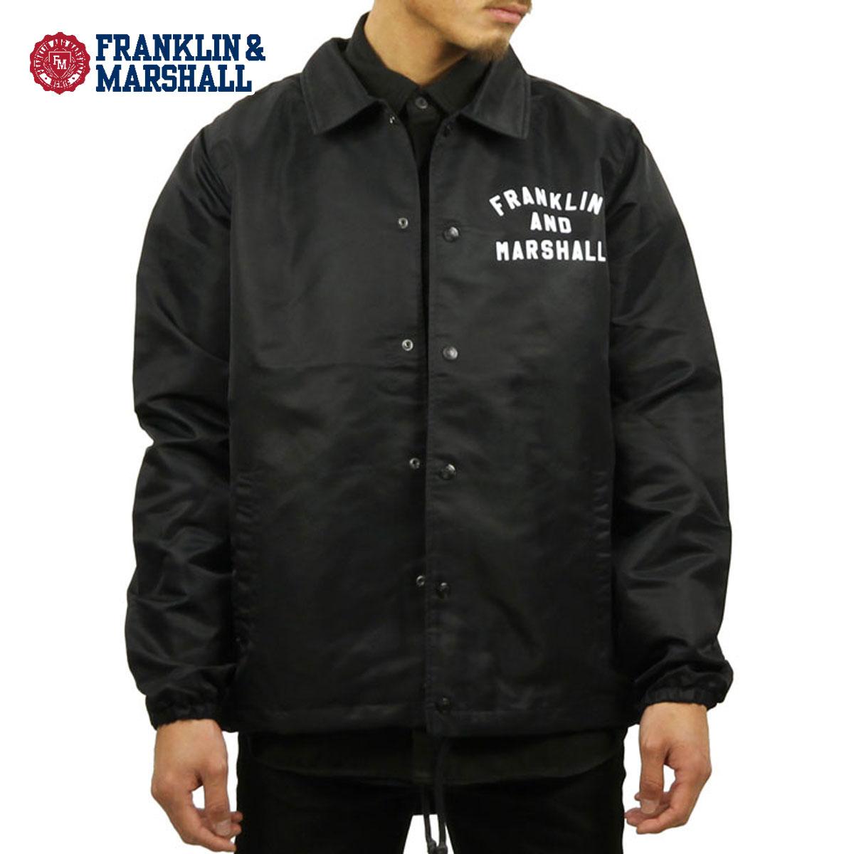 フランクリン マーシャル FRANKLIN&MARSHALL 正規販売店 メンズ ジャケット COACH JACKET BLACK JKMF015AN 5008 0021