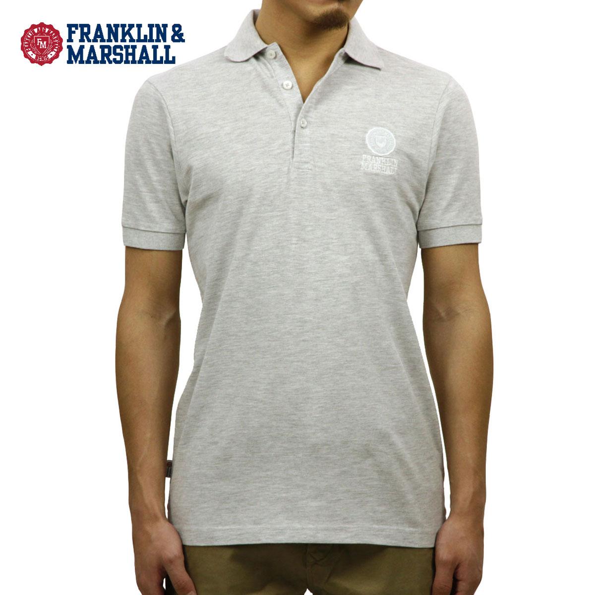 フランクリン マーシャル FRANKLIN&MARSHALL 正規販売店 メンズ 半袖ポロシャツ POLO SHIRT GREY MELANGE POMF130AN 45181 4061