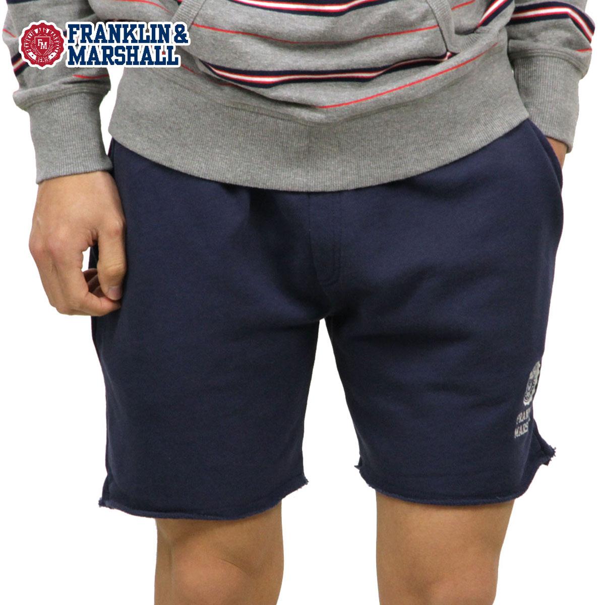 フランクリン マーシャル ショートパンツ メンズ 正規販売店 FRANKLIN&MARSHALL ハーフパンツ ボトムス FLEECE PANTS NAVY SFMF227AN 0167