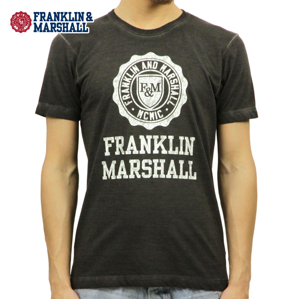 フランクリン マーシャル Tシャツ 正規販売店 FRANKLIN&MARSHALL 半袖Tシャツ クルーネック LOGO TEE BLACK TSMF188AN 45181 4013
