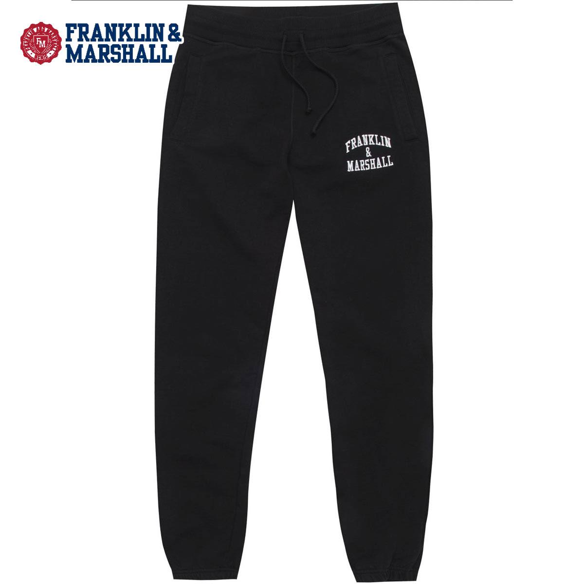 予約商品 4月頃入荷予定 フランクリン マーシャル FRANKLIN&MARSHALL 正規販売店 メンズ スウェットパンツ FLEECE PANTS PTMF432 2002 BLACK