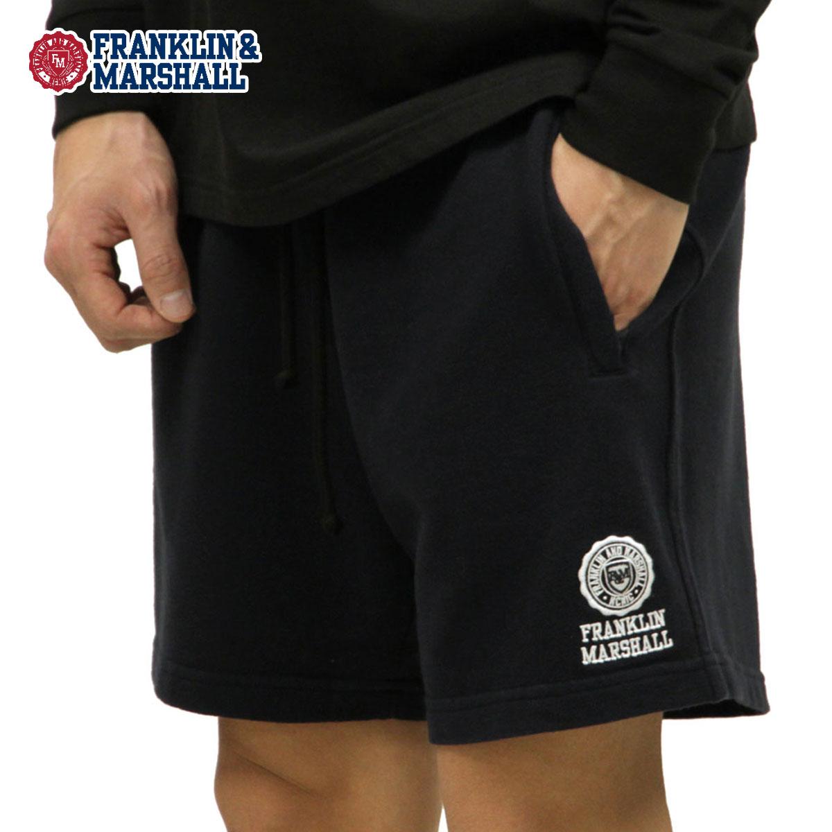 予約商品 4月頃入荷予定 フランクリン マーシャル FRANKLIN&MARSHALL 正規販売店 メンズ ショートパンツ FLEECE SHORT PANTS SFMF085 2041 BLACK