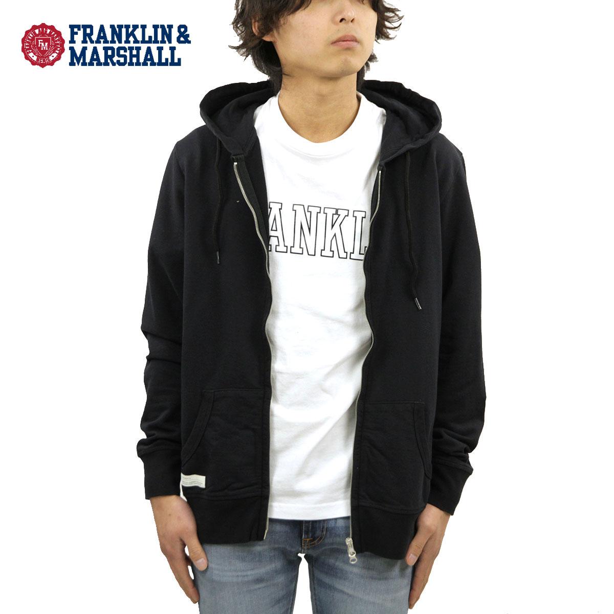 フランクリン マーシャル パーカー メンズ 正規販売店 FRANKLIN&MARSHALL アウター ジップアップパーカー ZIP UP FLEECE PARKA FLMF062ANB F021 BLACK