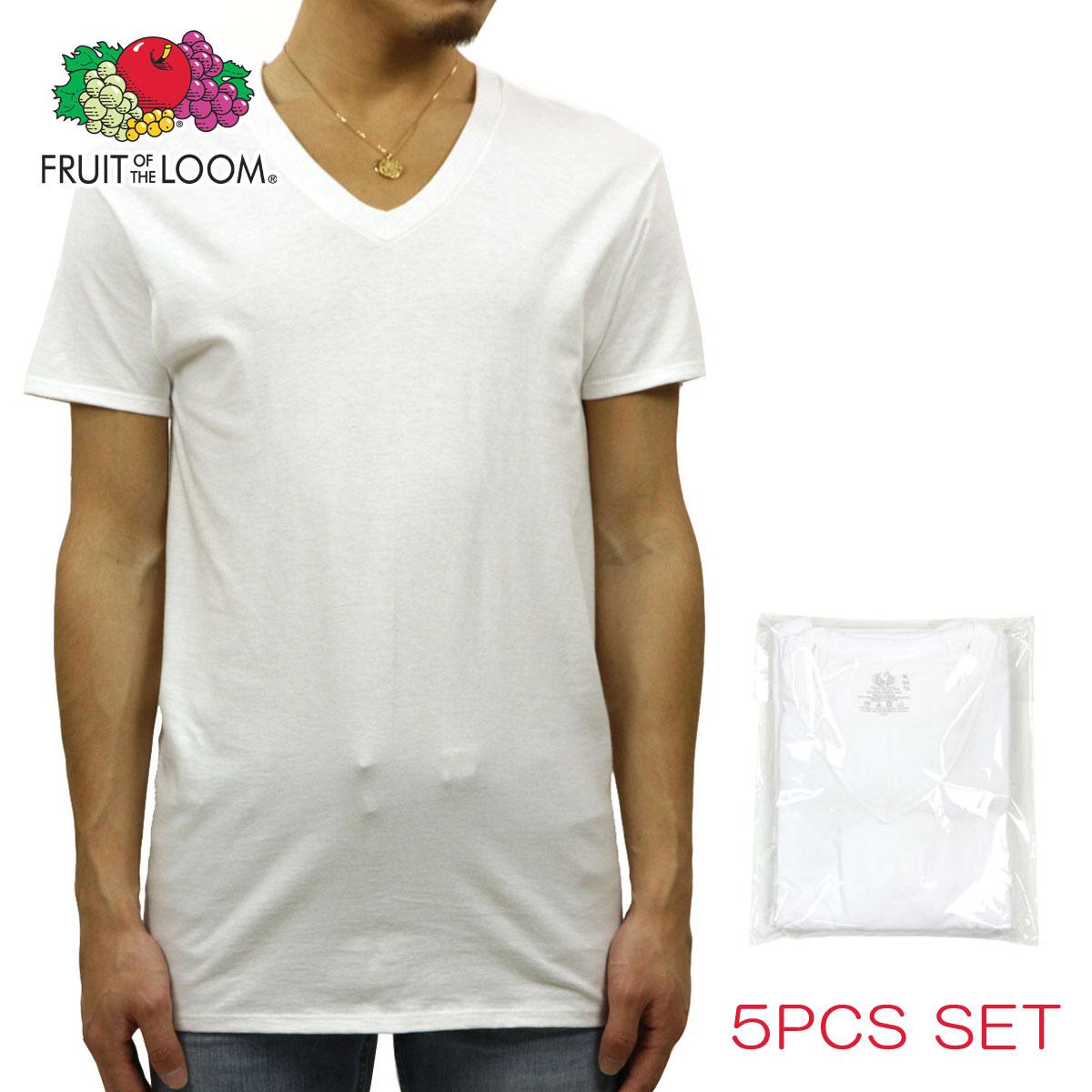 230d426a6e924 Rakuten Ichiba shop MIXON  Fruit ofthe room FRUIT OF THE LOOM V Neck T  shirt 5 Pack white P14Nov15