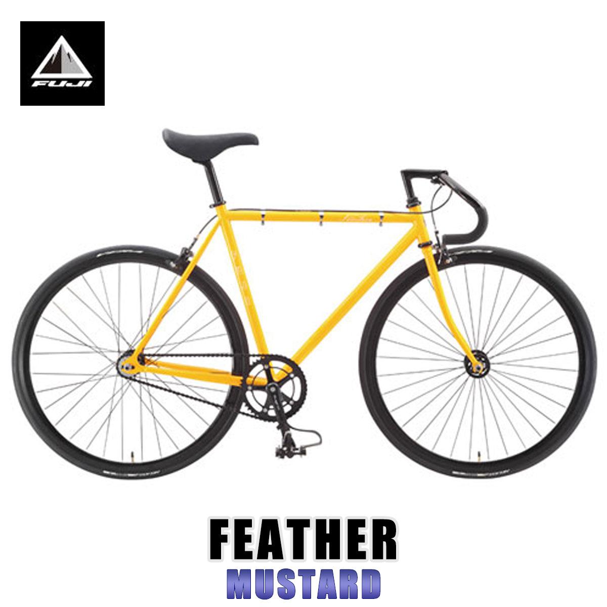 最安値級価格 フジ FUJI フジ 正規販売店 自転車 FEATHER FEATHER (SINGLE SPEED) SPEED) MUSTARD, ムツシ:bac13132 --- canoncity.azurewebsites.net