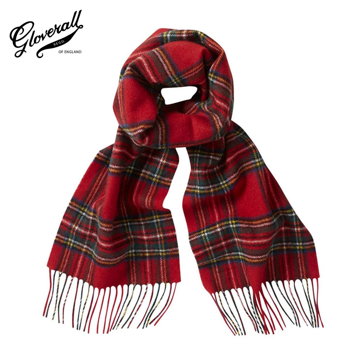 【販売期間 9/4 10:00~9/11 09:59】 グローバーオール GLOVERALL 正規販売店 メンズ スカーフ GLOVERALL×LOCHCARRON SCARF U0018 Royal Stewart D15S25 敬老の日 プレゼント