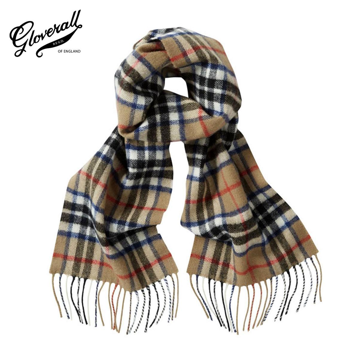 【販売期間 8/1 15:00~8/9 9:59】 グローバーオール GLOVERALL 正規販売店 メンズ スカーフ GLOVERALL×LOCHCARRON SCARF Thomson Camel