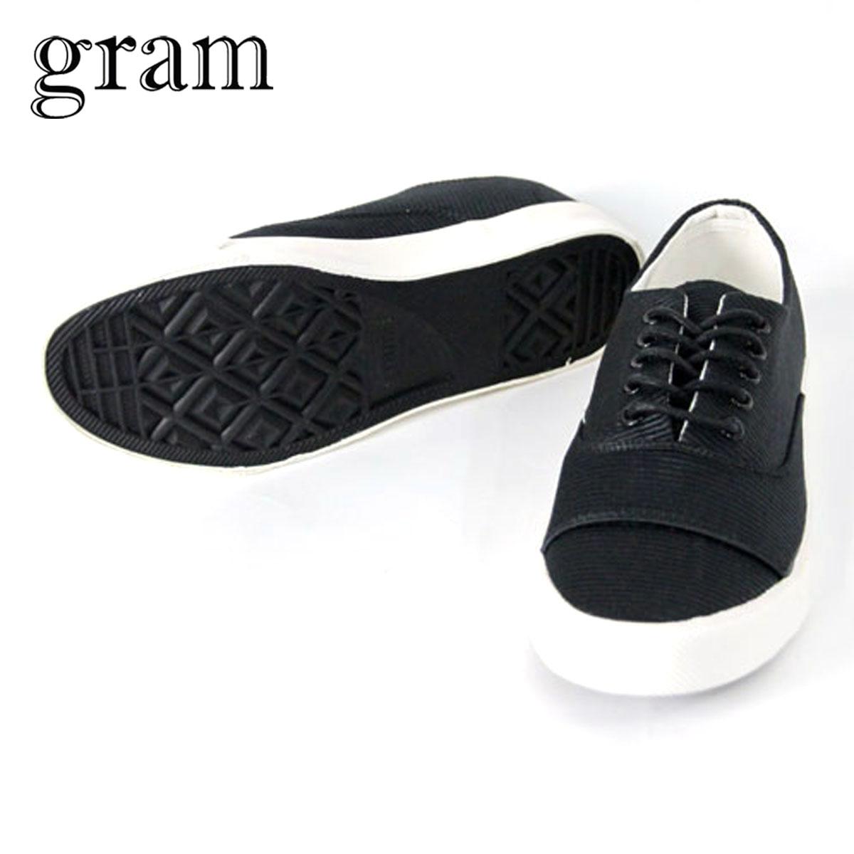 グラム GRAM シューズ スニーカー 352G black stripe nylon G-352-5
