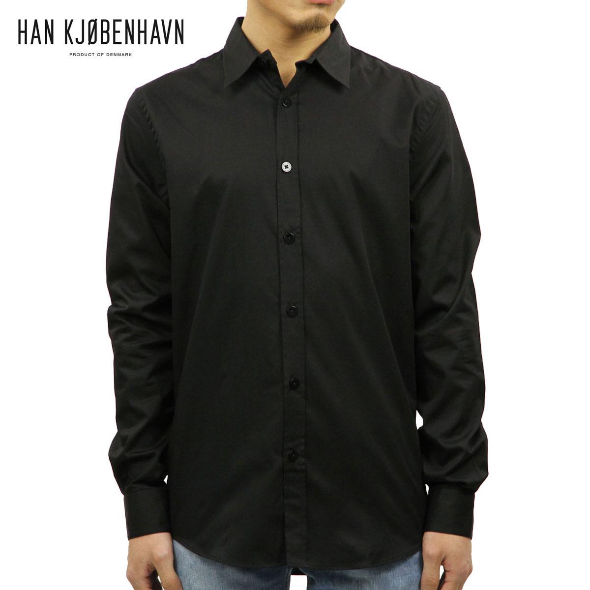 ハン HAN KJOBENHAVN メンズ シャツ EVERYDAY SHIRT 39.1 BLACK D00S20