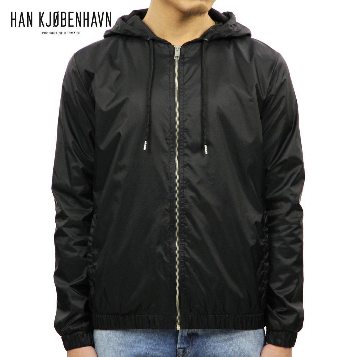 ハン HAN KJOBENHAVN メンズ ジャケット TECH ZIP HOOD 69.2 BLACK D00S20
