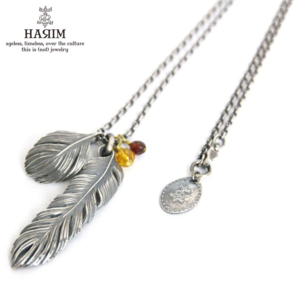 ハリム HARIM 正規販売店 ネックレス leef feather with jem set 2 Necklace HRP023