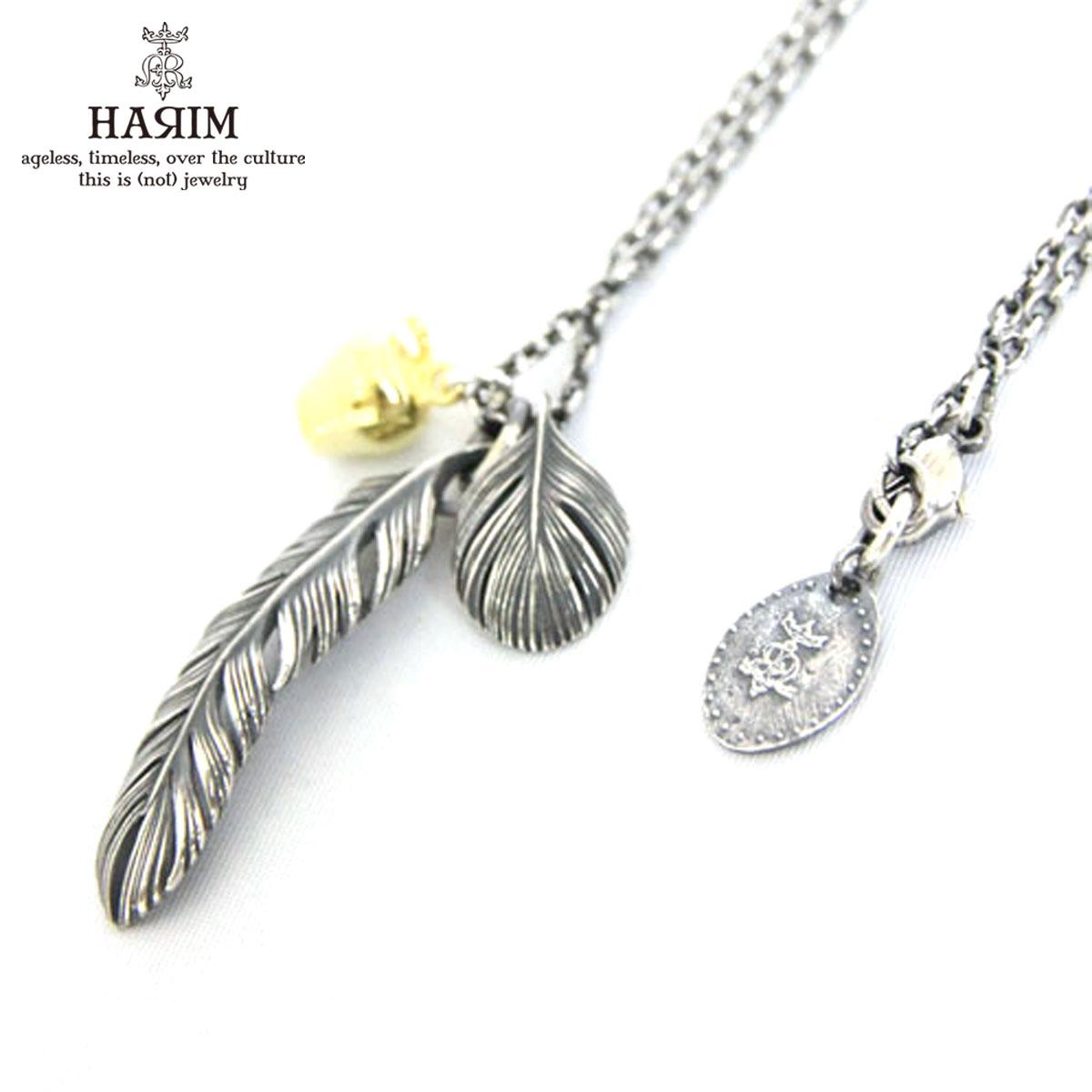 ハリム HARIM 正規販売店 ネックレス ReStyling Leef feather & Apple Necklace HRP079S