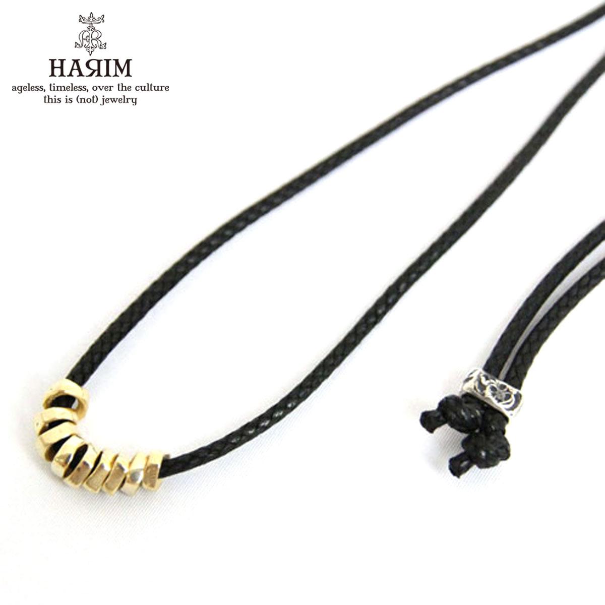 ハリム HARIM 正規販売店 ネックレス HARIM ROCK BEADS NECK K18COATING NECKLACE HRP103G