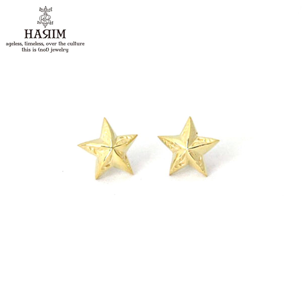 ハリム HARIM 正規販売店 イヤリング Star piarce K18coating (2set)