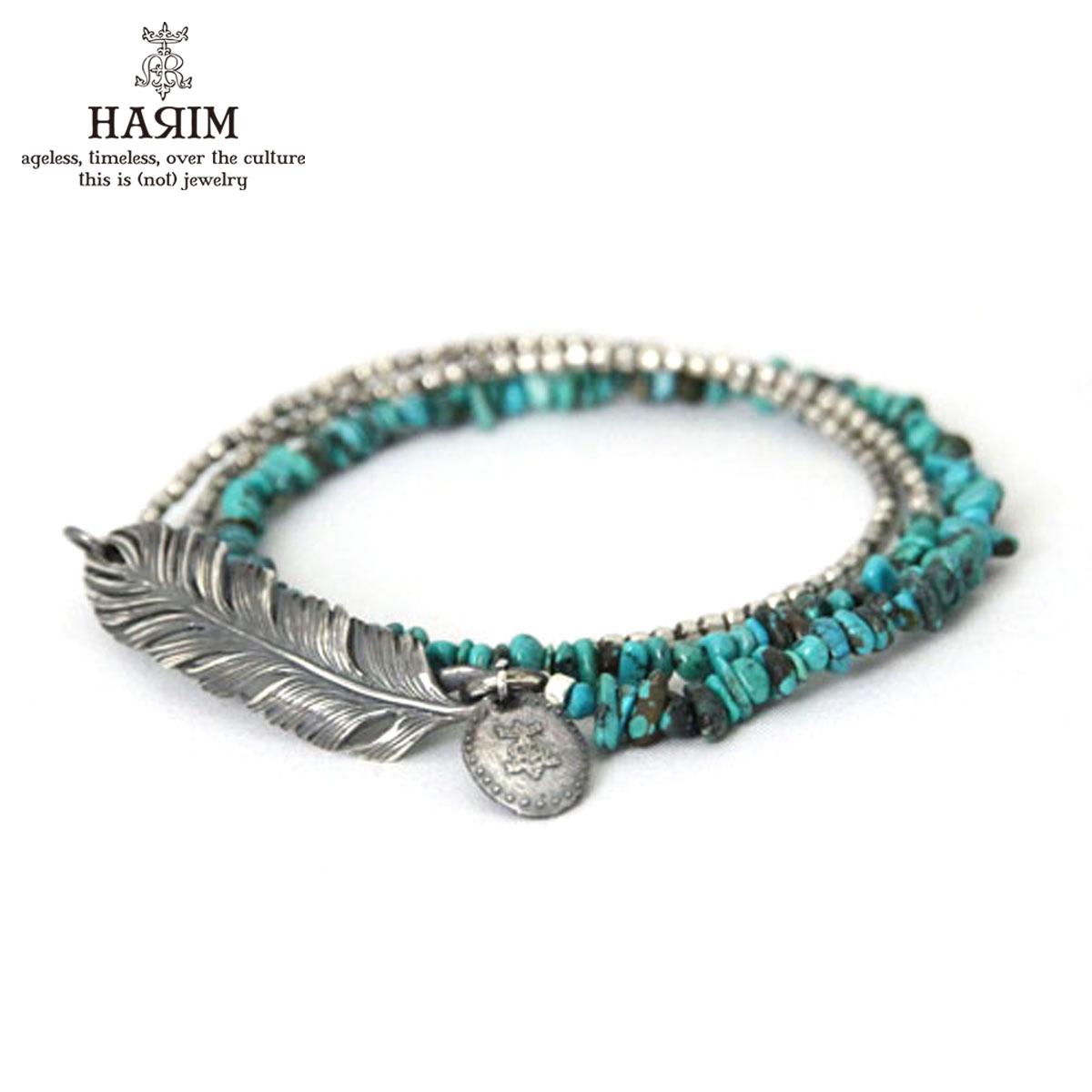 ハリム HARIM 正規販売店 ネックレス Turquoise Feather Bracelet Necklace HRT901