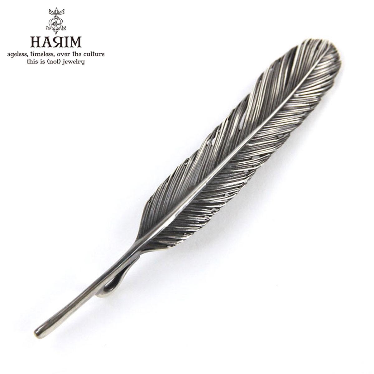 ハリム HARIM ペンダントトップ(チェーン別売り) HARIM FEATHER LEFT L HRT002 WH/OX SILVER 925 OXIDIZED BLACK