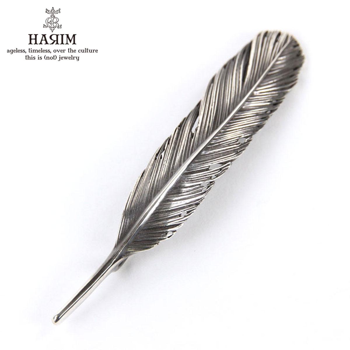 ハリム HARIM ペンダントトップ(チェーン別売り) HARIM FEATHER LEFT M HRT005 WH/OX SILVER 925 OXIDIZED BLACK