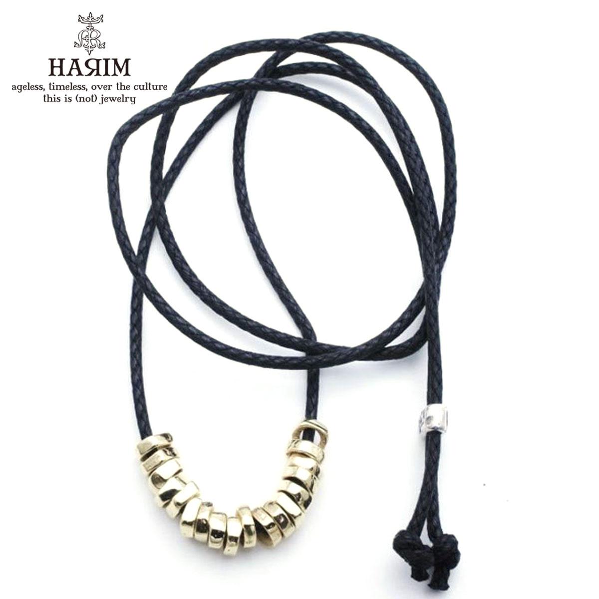 ハリム HARIM ネックレス ROCK BEADS CODE NECK W K18coating HRP117 GPC SILVER 925 K18YG GOLD PLATING