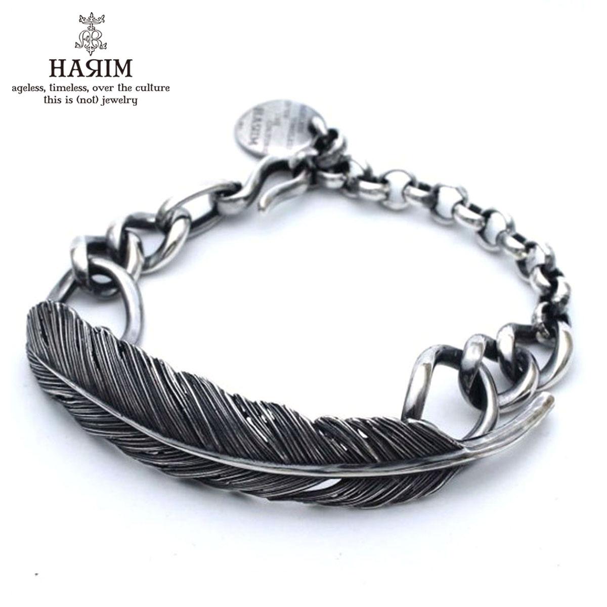 ハリム HARIM バングル HARIM FEATHER CHAIN LINK HRA050 SV SILVER 925 OXIDIZED BLACK