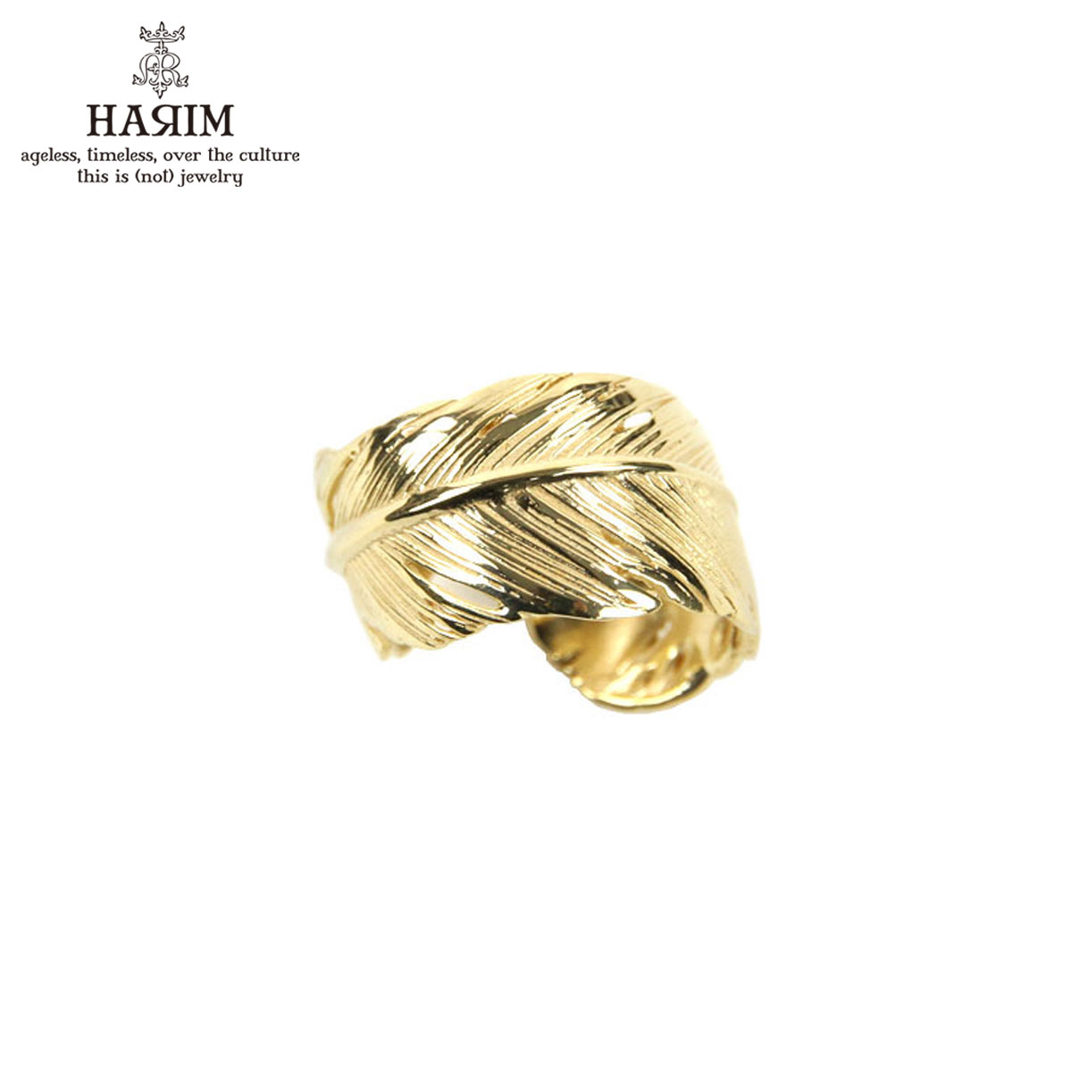 ハリム HARIM 指輪 リング HARIM FEATHER RING 2 GP HRR040 GP SILVER 925 18 GOLD PLATED