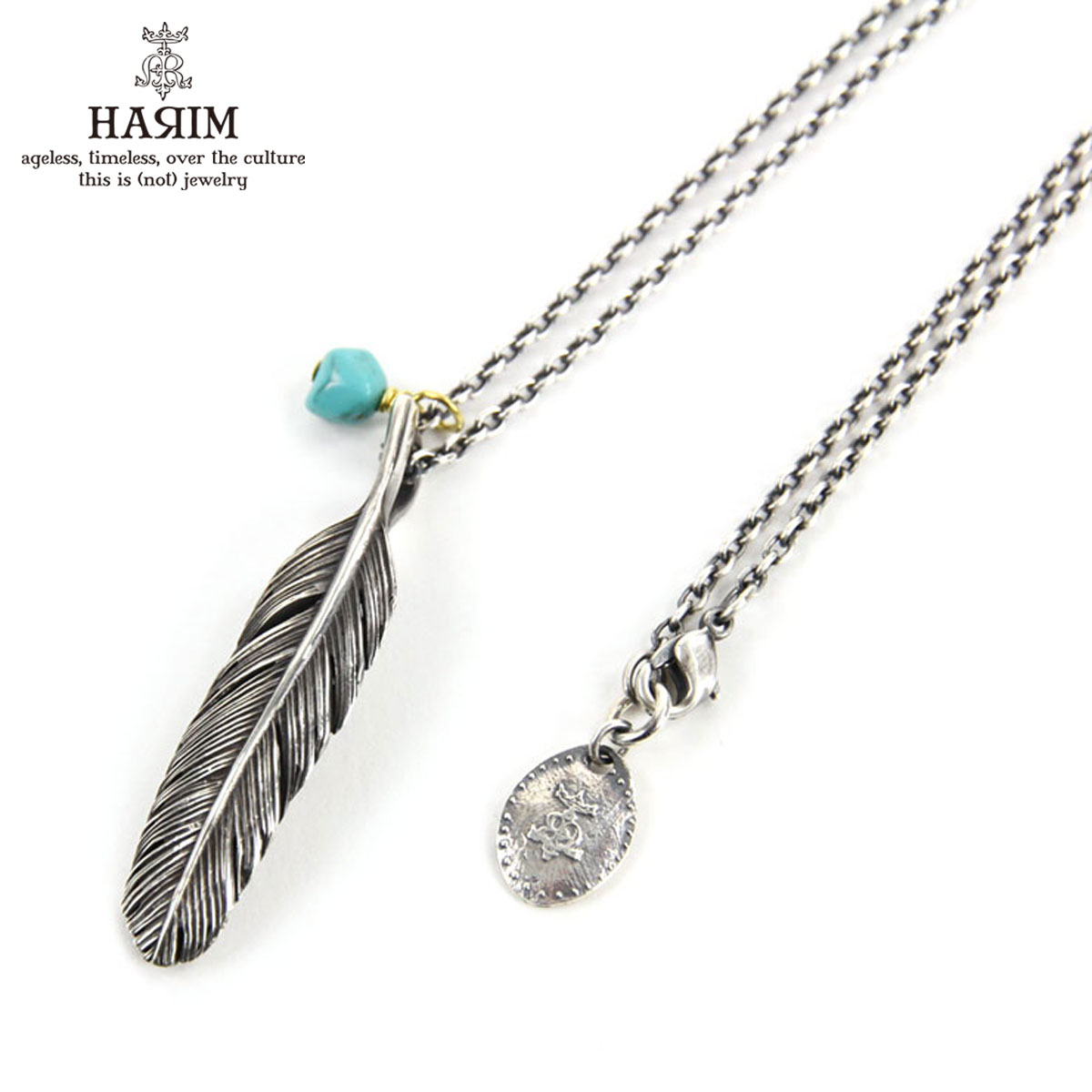ハリム HARIM ネックレス HARIM FEATHER RIGHT S OX NECKLACE SET HRP123 OX SILVER 925 OXIDIZED BLACK