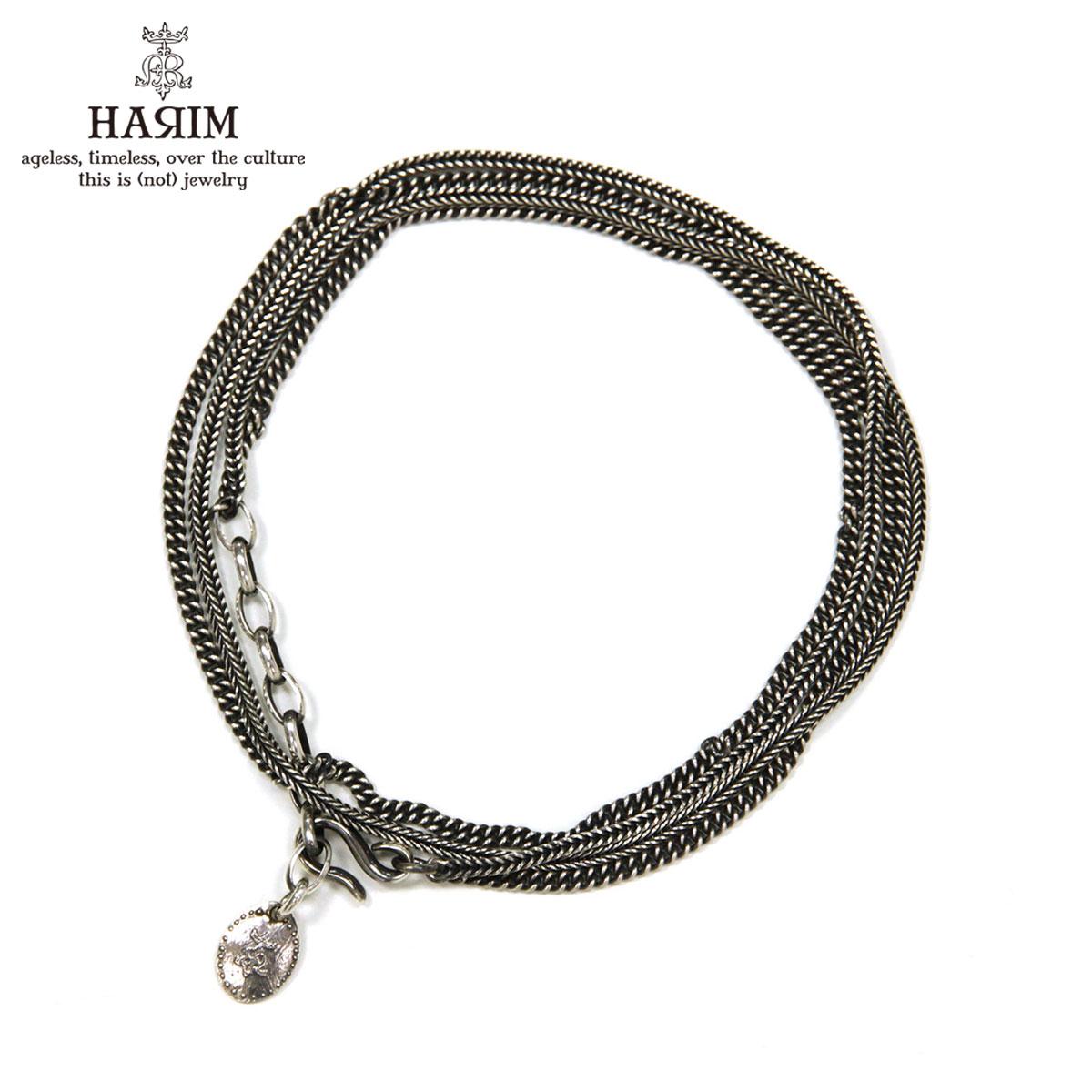 ハリム HARIM ネックレスチェーン ブレスレット HARIM DOUBLE HERRINGBONE CHAINS NECKLACE/BRACELET HRC012 SILVER 925 OXIDIZED BLACK