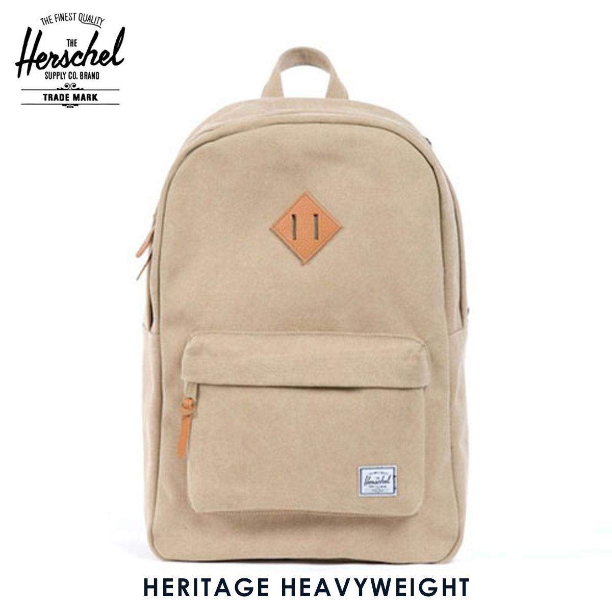 ハーシェル バッグ 正規販売店 Herschel Supply ハーシャルサプライ バッグ 10007-00012-OS Heritage Heavyweight Cotton Canvas Khaki