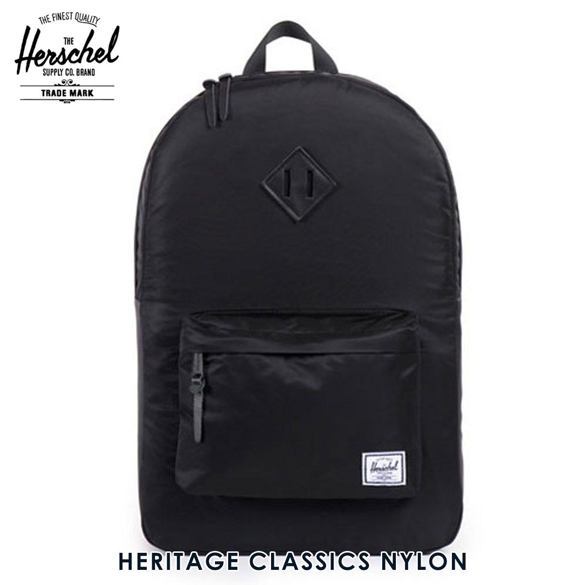 ハーシェル サプライ Herschel Supply 正規販売店 バッグ Heritage Classics - Nylon 10007-00587-OS Black D15S25