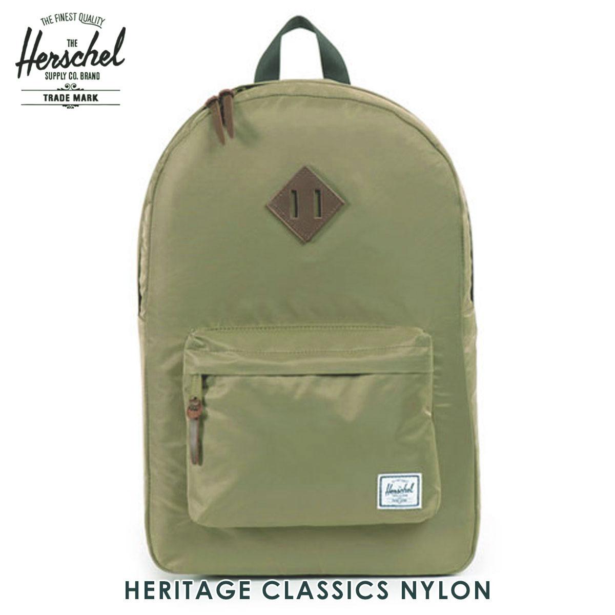30%OFFセール 【販売期間 6/4 20:00~6/11 01:59】 ハーシェル バッグ 正規販売店 Herschel Supply ハーシャルサプライ バッグ Heritage Classics - Nylon 10007-00589-OS Fern D15S25 父の日