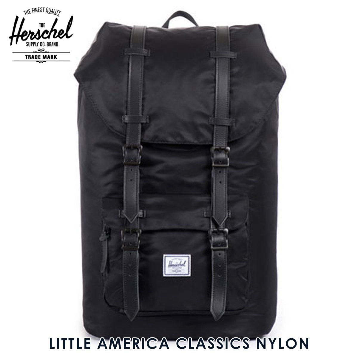 【ポイント10倍 6/4 20:00~6/11 01:59まで】 ハーシェル バッグ 正規販売店 Herschel Supply ハーシャルサプライ バッグ Little America Classics - Nylon 10014-00587-OS Black D15S25 父の日