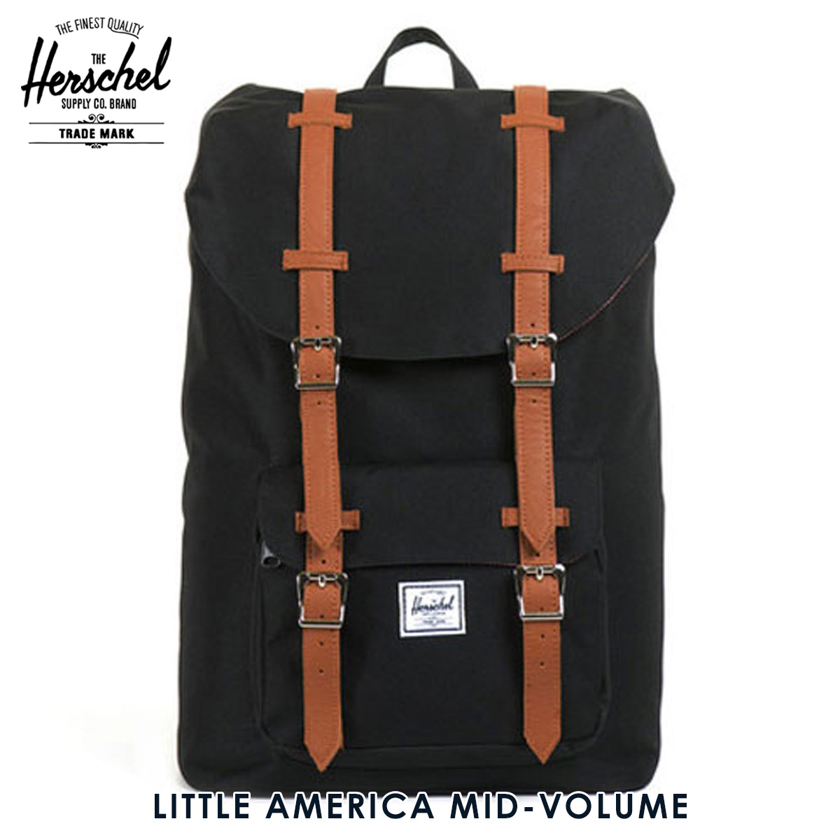 15%OFFセール 【販売期間 9/4 20:00~9/11 01:59】  ハーシェル バッグ 正規販売店 Herschel Supply ハーシャルサプライ バッグ Little America Mid-Volume Classics Mid Backpacks 10020-00001-OS Black D15S25