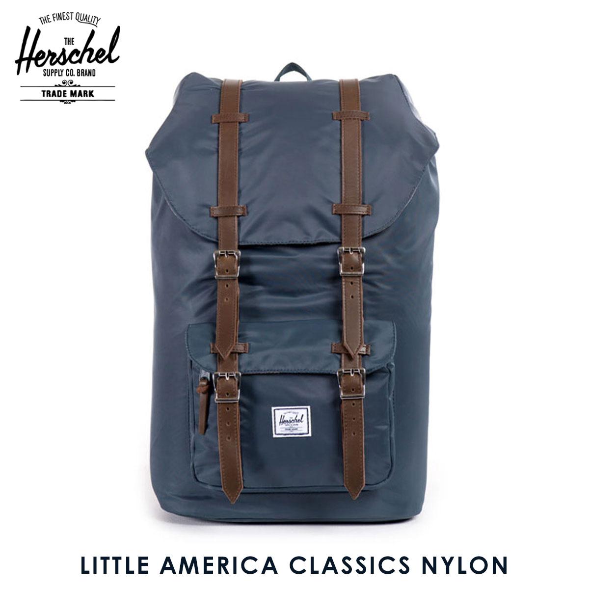 ハーシェル サプライ Herschel Supply 正規販売店 バッグ リュックサック Little America Classics Nylon 10014-00728-OS Navy D15S25