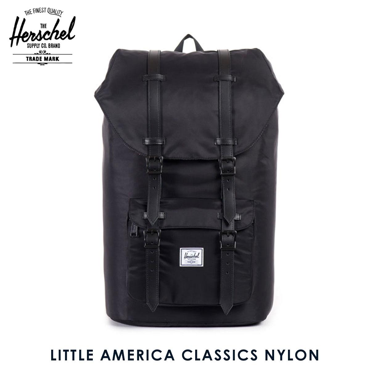 30%OFFセール 【販売期間 6/4 20:00~6/11 01:59】 ハーシェル バッグ 正規販売店 Herschel Supply ハーシャルサプライ バッグ リュックサック Little America Classics Nylon 10014-00727-OS Black D15S25 父の日