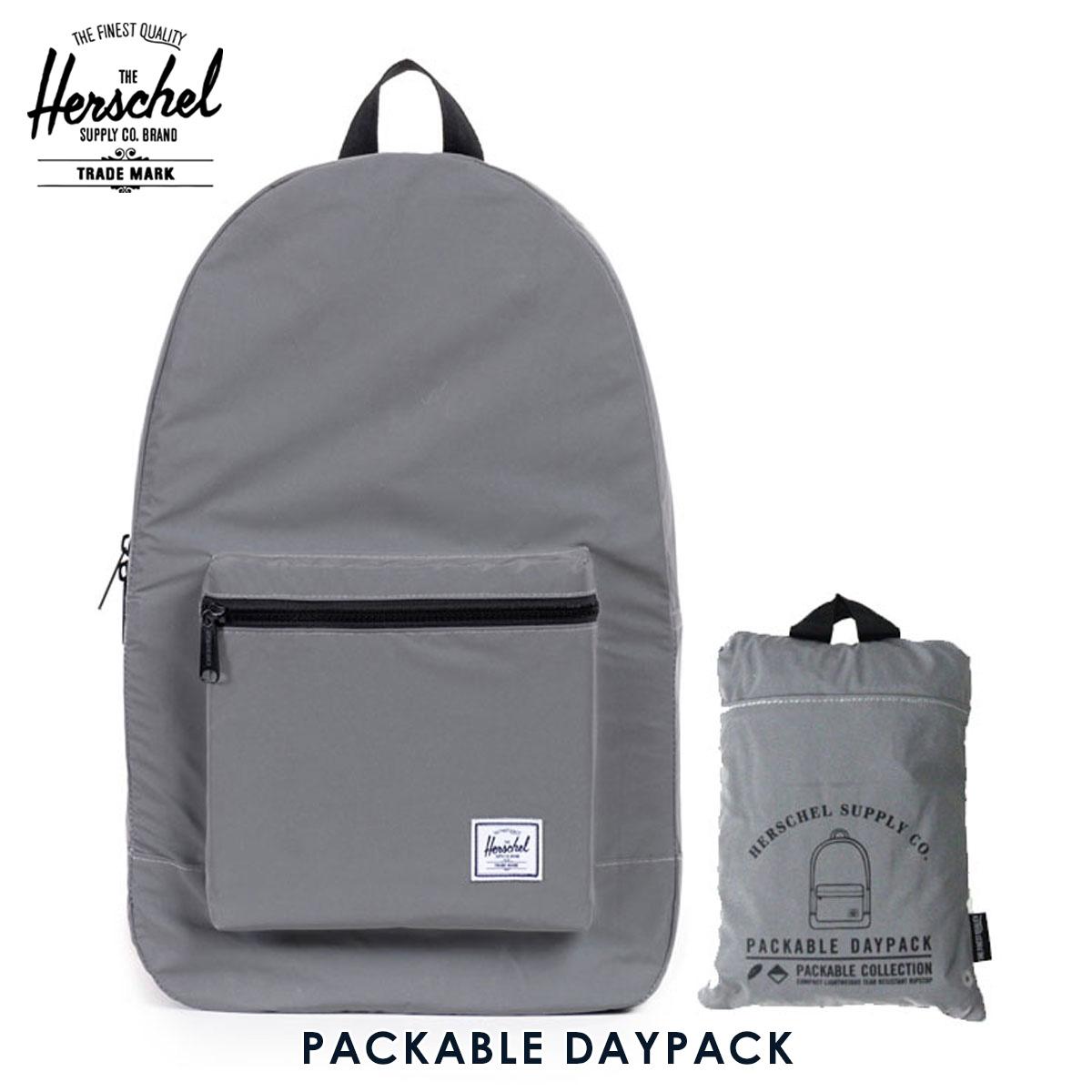 Herschel Herschel bag rucksack Packable Daypack - 3 M Packable Day Night  10076-00722-OS Silver Reflective P16Sep15 3e9355ae6fb54