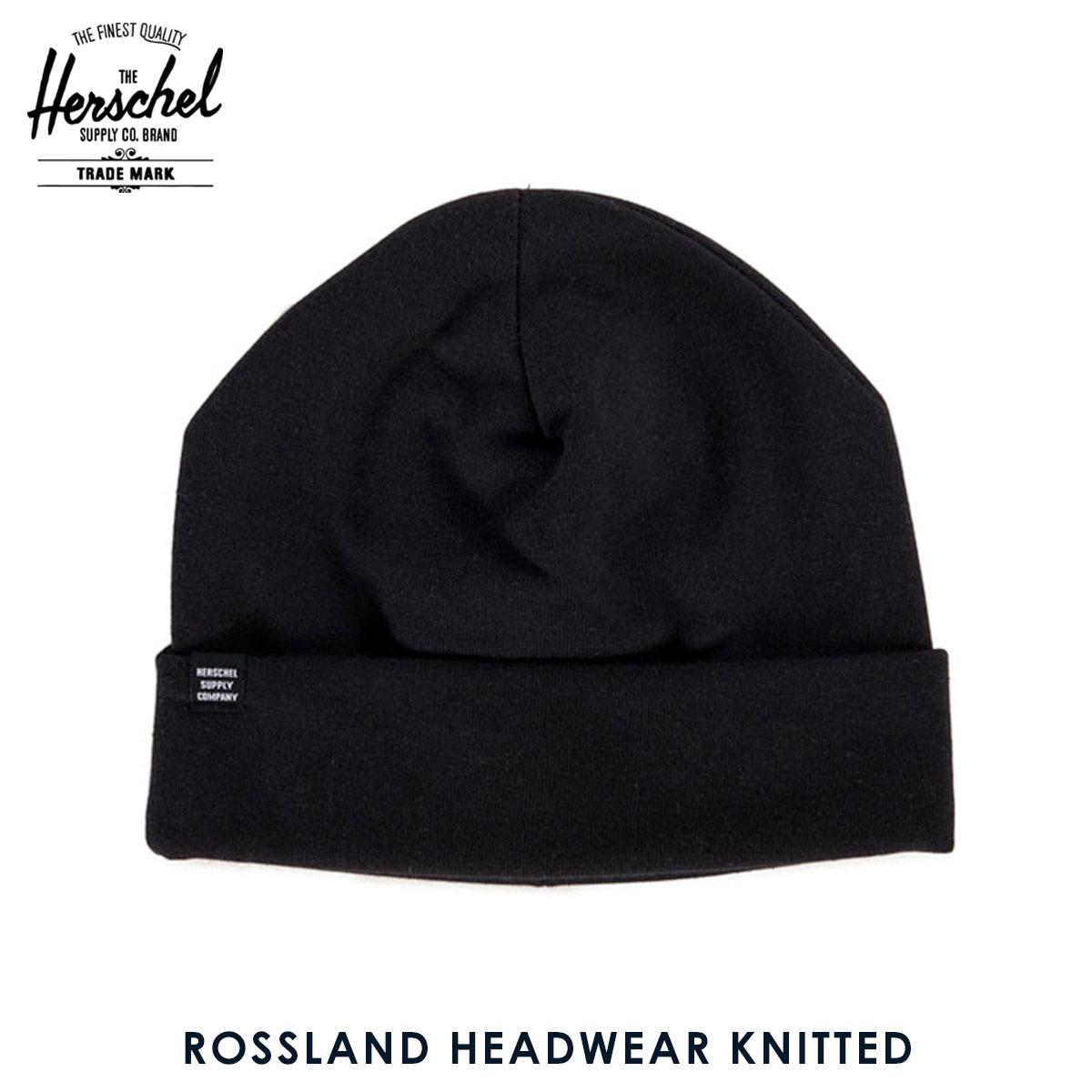 ハーシェル キャップ 正規販売店 Herschel Supply ハーシャルサプライ ニットキャップ Rossland HEADWEAR KNITTED 1004 0001 OS Black D20S30 父の日tCsQxhrd