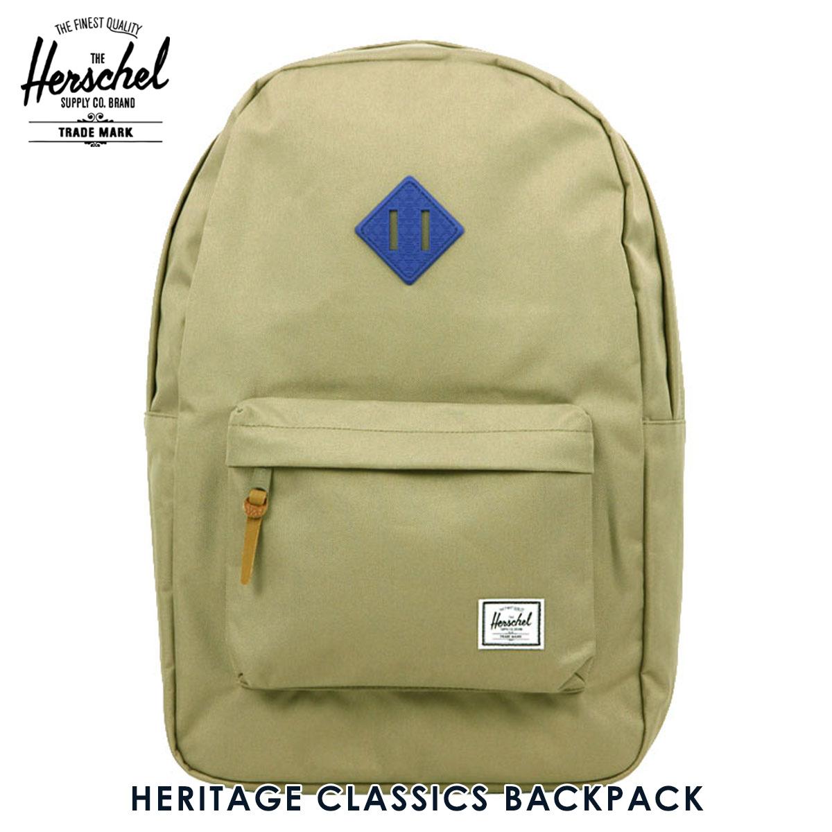 ハーシェル サプライ Herschel Supply 正規販売店 バッグ リュックサック HERITAGE CLASSICS BACKPACK 10007-01257-OS BRINDLE/COBALT NATIVE RUBBR