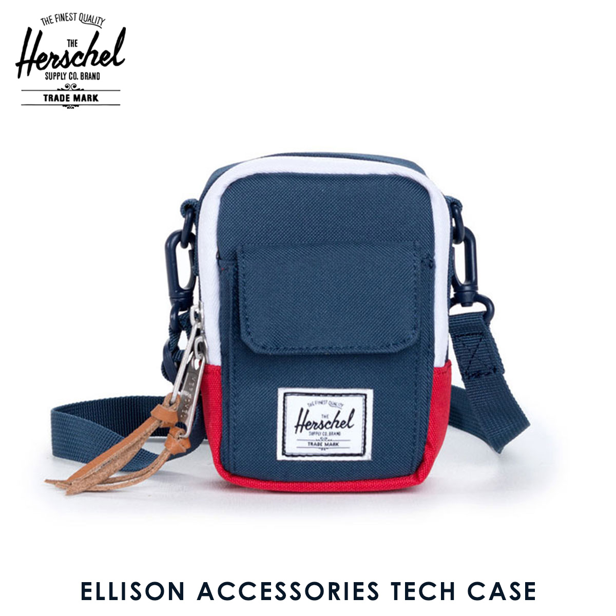 5253e833638 Hershel supply Herschel Supply regular store case Ellison Accessories Tech  Case 10243-00018-OS Navy Red D00S15