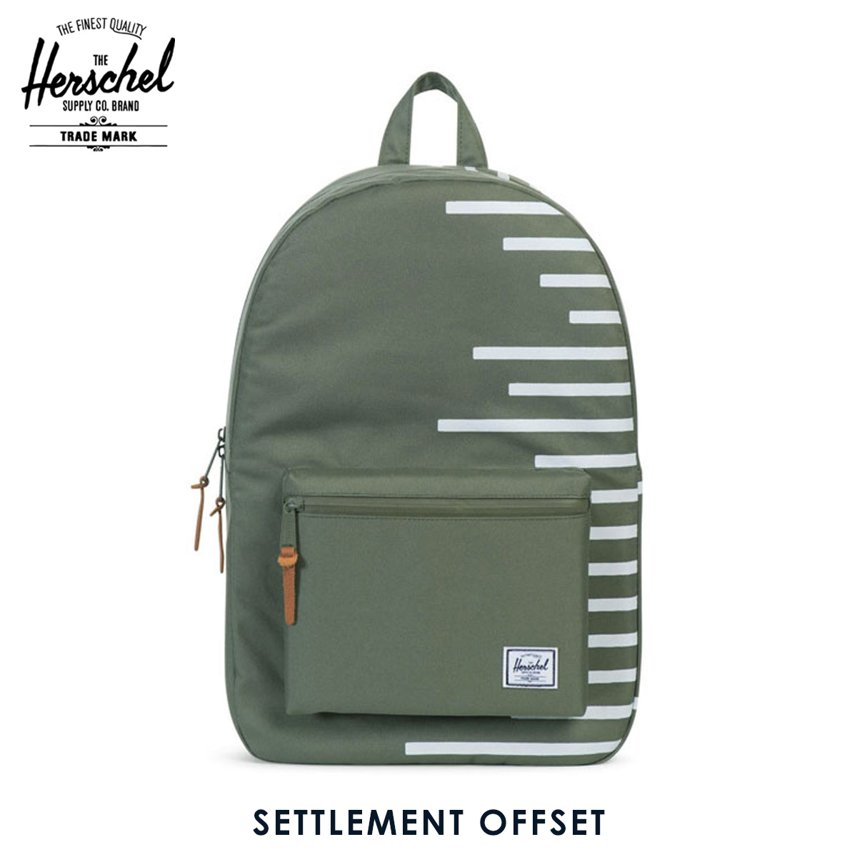 483e7cd38cb Herschel Herschel Supply regular sale shop bag rucksack SETTLEMENT OFFSET  10005-01041-OS DEEP LICHEN GREEN BLANC DE BLANC STRIPES 20P05Nov16