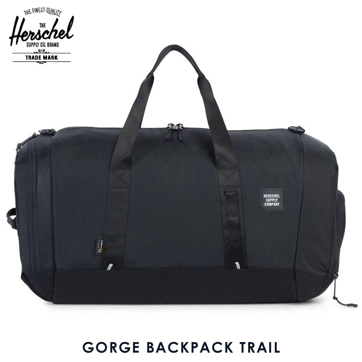 ハーシェル サプライ Herschel Supply 正規販売店 バッグ リュックサック GORGE BACKPACK TRAIL 10272-01174-OS BLACK D00S20