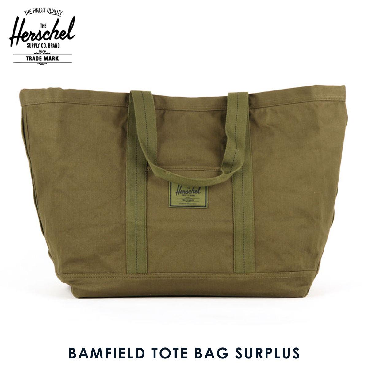 Herschel supply Herschel Supply regular sale shop bag BAMFIELD TOTE BAG  SURPLUS 10232-01131-OS ARMY 20P03Dec16 c3912f531ad37