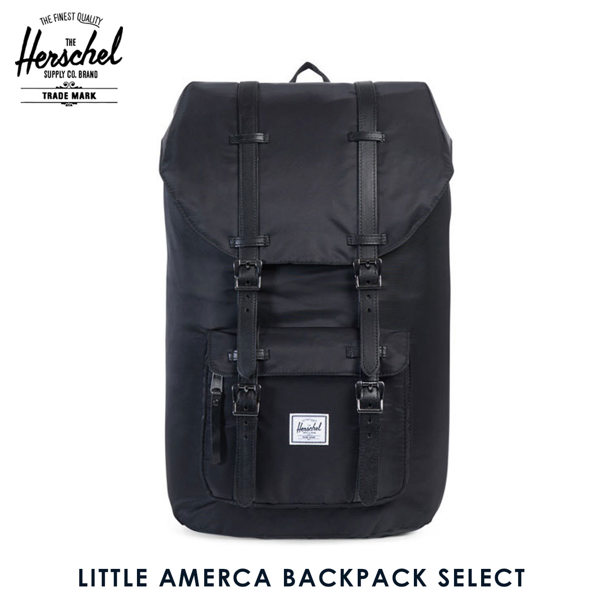1c6f0d143c7 Herschel Herschel Supply regular sale shop bag rucksack LITTLE AMERCA  BACKPACK SELECT 10014-00949-OS BLACK BLACK DYED VEGGIE TAN LEATHER  20P05Nov16