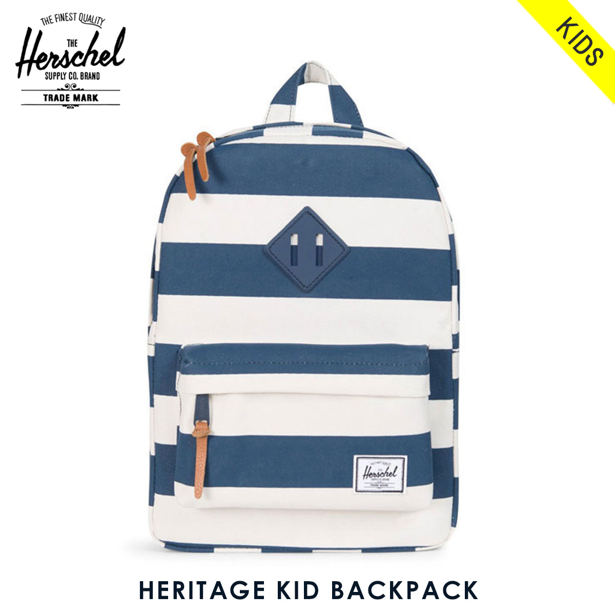 8e878ff67d8f Herschel supply Herschel Supply regular sale shop bag rucksack BACKPACK KID  10073-01213-OS HERITAGE NAVY NATURAL STRIPE NAVY RUBBER 20P03Dec16