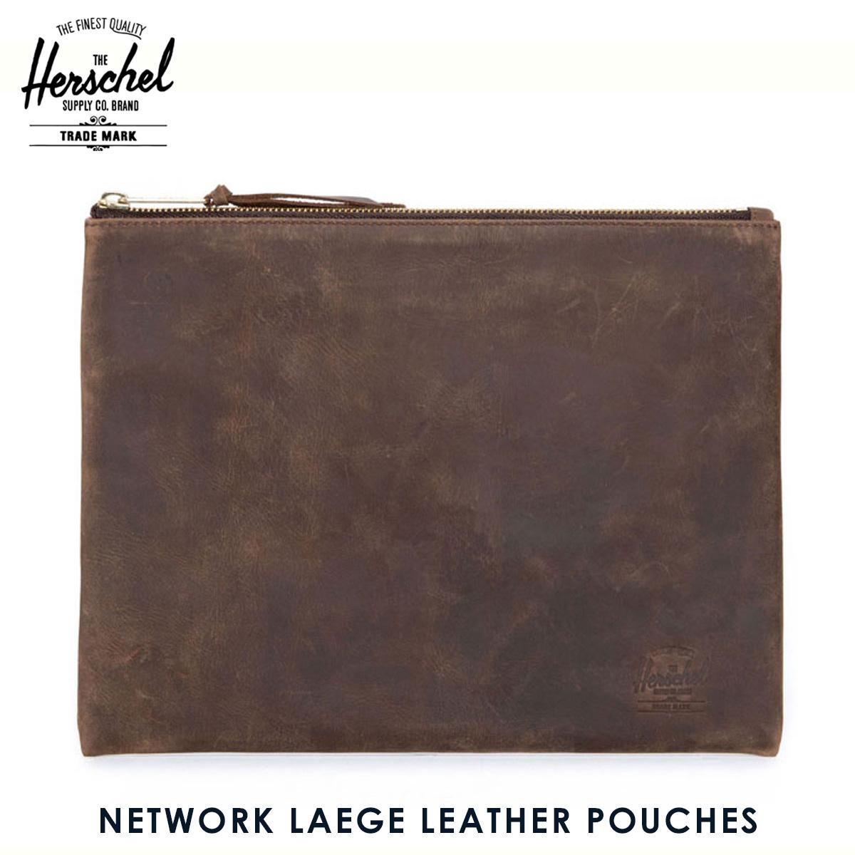 ハーシェル サプライ Herschel Supply 正規販売店 ポーチ NETWORK LAEGE LEATHER POUCHES CLASSICS 10163-00037-OS NUBUCK LEATHER D00S20