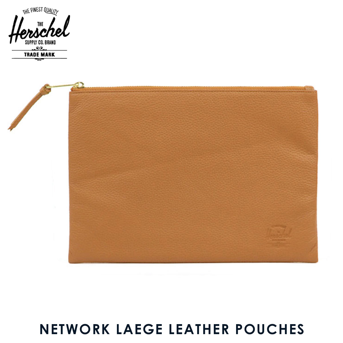 ハーシェル サプライ Herschel Supply 正規販売店 ポーチ NETWORK LAEGE LEATHER POUCHES CLASSICS 10163-00034-OS TAN PEBBLED LEATHER D00S20